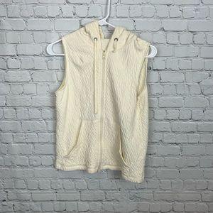 Eileen Fisher Organic Cotton Zip Up hoodie